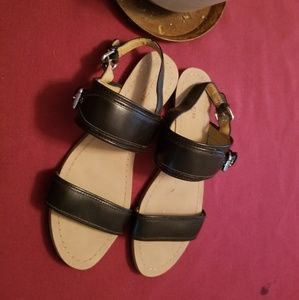 Coach sandals, black women's size 8